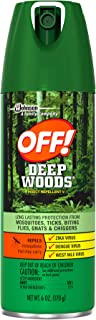 Off Deep Woods Insect Repellent 6 Ounce Spray (2 Pack)