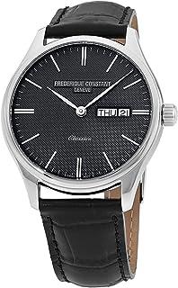 Frederique Constant Classics Grey Dial Leather Strap Men's Watch FC225GT5B6