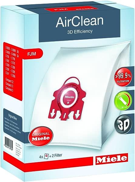 Miele AirClean 3D Efficiency Dust Bag Type FJM 4 Bags 2 Filters