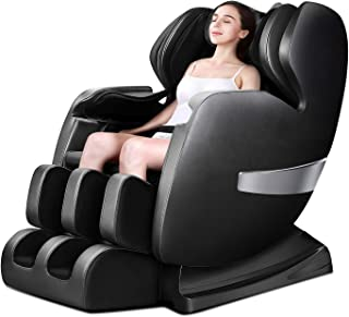 OOTORI Massage Chair Recliner, S-Track Zero Gravity Full Body Shiatsu Luxurious Electric Massage Chair with Stretched Tapping Mode Heating Back and Foot Rollers Body Detection (Black)