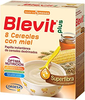 Blevit Plus Superfibra 8 Cereales con Miel, 1 unidad 600 gr. A partir de los 5 meses.