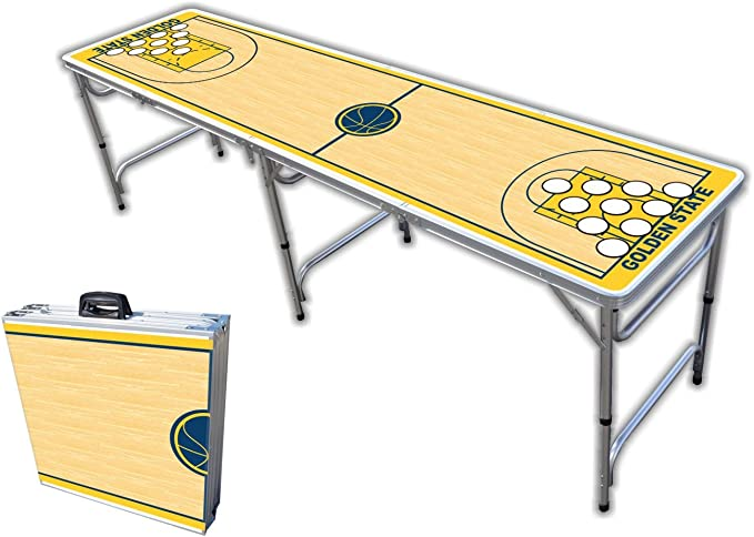 Jacksonville Football Field Graphic 8-Foot Professional Beer Pong Table w//Optional Cup Holes