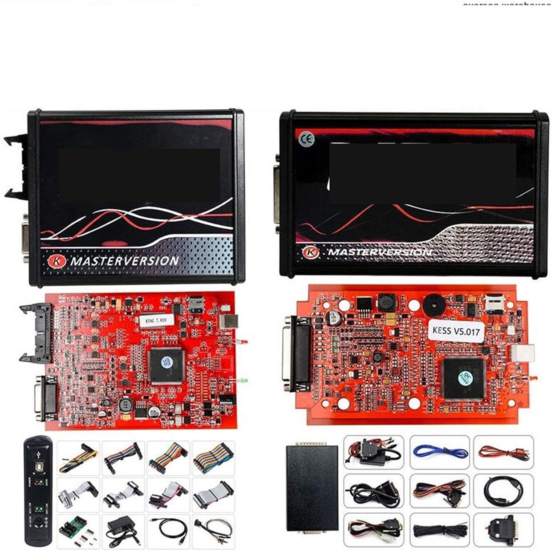 iDWF 2020 in Linea Red V2.53 Kess V5.017 V2 KTAG V7.020 V2.25 4LED No Token OBD2 Direttore KTAG 7.020 Kess V2 ECU Aggiornamento Programmatore Color : Kess KTAG LEDBDM