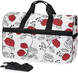 MONTOJ Reisetasche aus Segeltuch, Rosen-Aufdruck