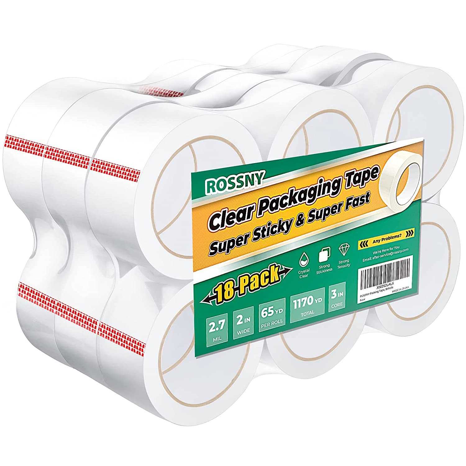 Clear Packing Tape ROSSNY 18 Heavy Shipping 2. Duty Rolls Fresno Weekly update Mall