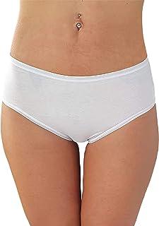 Cotonella Slip Midi Donna in Cotone Elasticizzato Art. 3940 - Confezione da 6 Pezzi - Colori Bianco E Nero