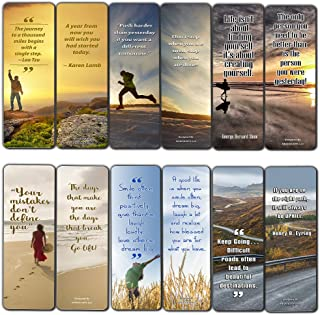 Inspirational Quotes Bookmarks Cards (12-Pack) for Inspiring and Encouraging Men and Women