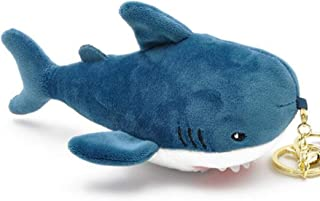 Ruzucoda Plush Shark Keychain Pendants Stuffed Animals Key Chains for Backpack Ornaments Key Ring Blue