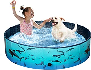 Sponsored Ad - Foldable Dog Pool, Pet Swimming Pool, Hard PVC Plastic, Outdoor Portable Collapsible Kiddie Bathing Tub for...