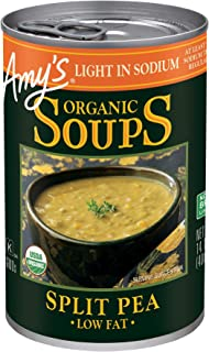 Amy's Light in Sodium Organic Soups, Low Fat Split Pea, 14.1 Ounce