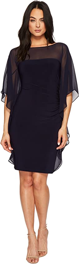 Aianna Matte Jersey with Georgette Dress