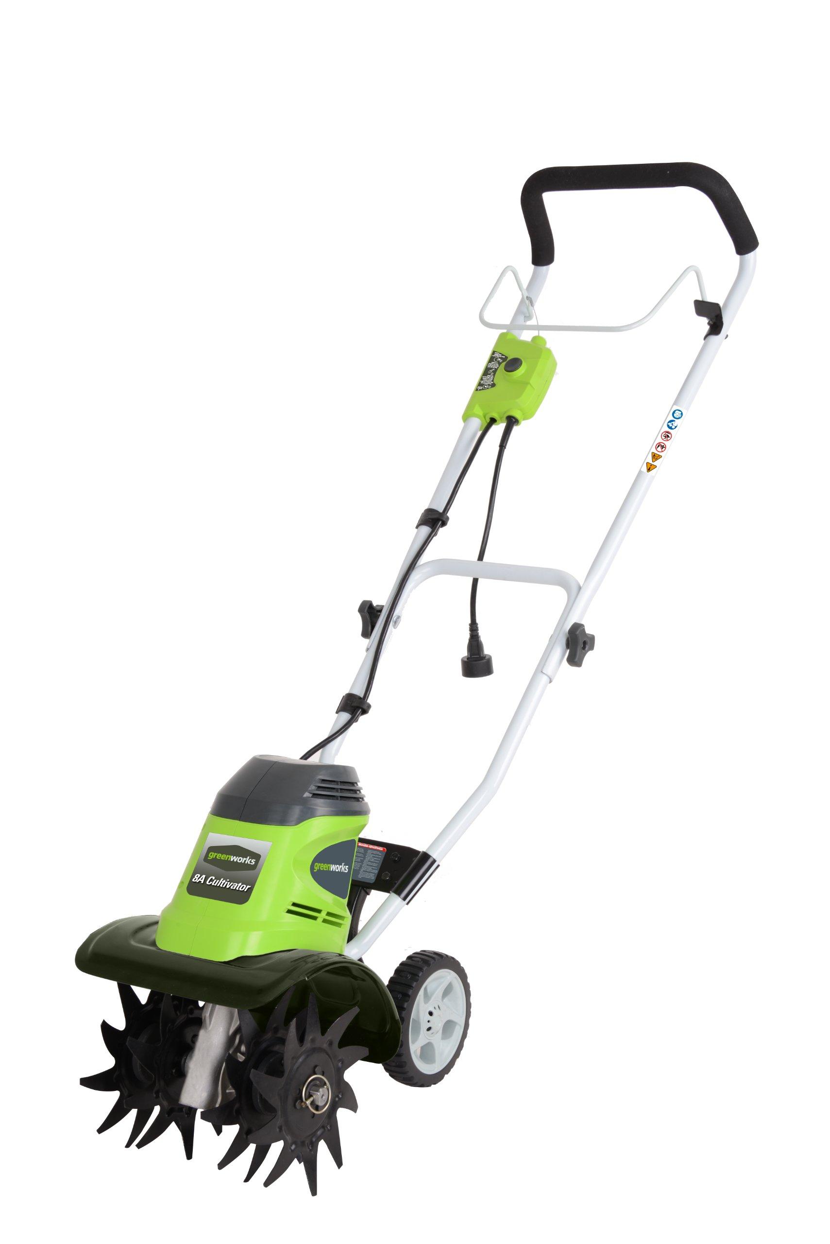 Greenworks 10 Inch Corded Tiller 27072