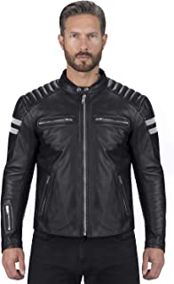 Viking Cycle Leather Motorcycle Jacket for Men – Biker BloodAxe Armor Protection