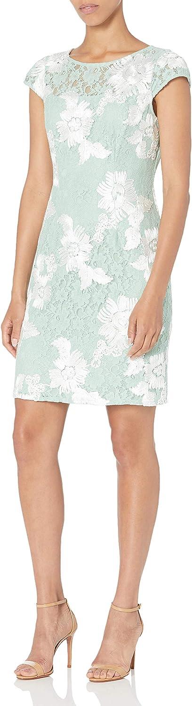 Adrianna Papell Women's Soutache Lace Sheath Dress