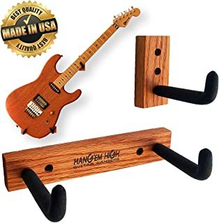 Angled Guitar Wall Hanger Display for Electric and Thin Body Guitars- Classic Finish