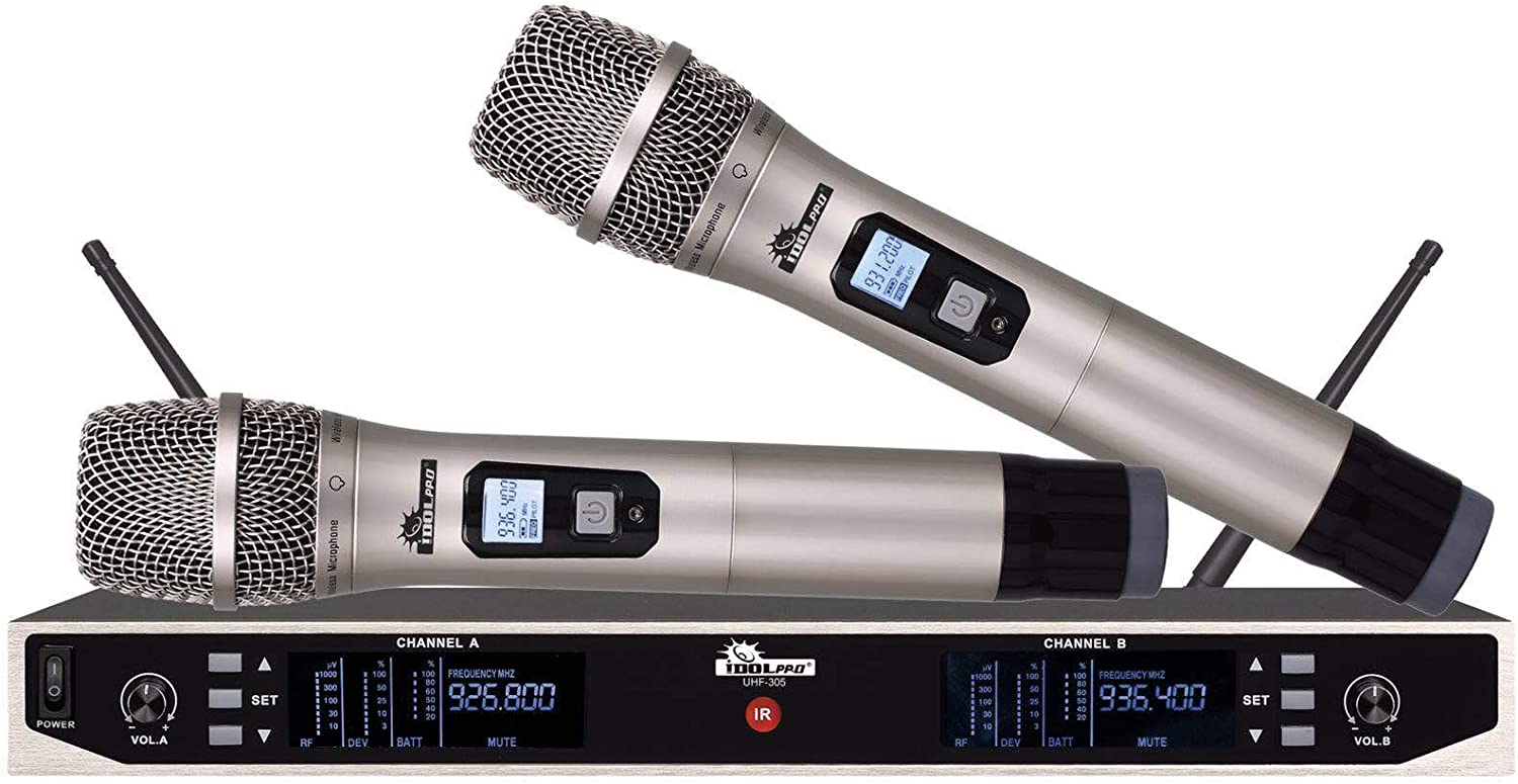 IDOLpro Ultra-Cheap Deals UHF-305 Professional Dual Quantity limited Microphone Wit Wireless System