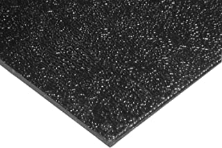 Source One Premium 12 x 12 x 1/8 Inches Black Textured ABS Acrylic Plexi Sheet (S1-12x12abs)