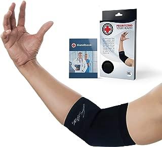 Dr. Arthritis - Codera de compresión con libro médico (puede no estar en español) – Alivio para codo de tenista (M)