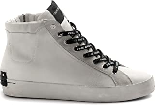 Crime London Sneaker Uomo High Top Heritage Bianca - 11360 10 Bianco - Taglia