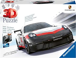 Ravensburger 11147-3D Pussel fordon Porsche GT3 Cup - 108 bitar - tredimensionell bygglädje & inget lim behövs för vuxna o...