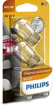 Philips 12066B2 Lot de 2 ampoules pour clignotant Vision W21/5W