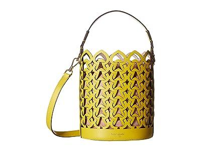 Kate Spade New York Dorie Small Bucket (Chartreuse) Handbags