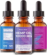 Hemp Oil 10000MG 2 FL.OZ - 100% Safe Hemp Extract - Pain, Stress & Anxiety Relief - Made in USA - Anti Inflammatory & Immunity Support - Deep Sleep & Mood Boost