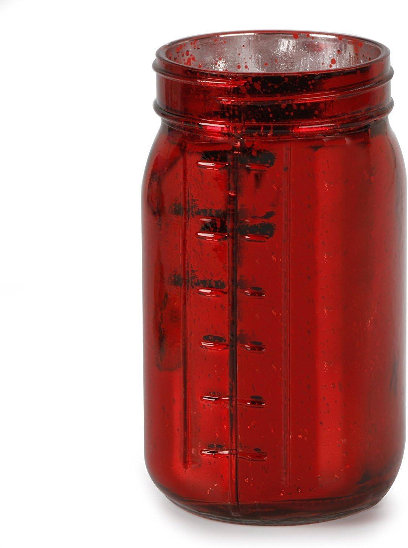 ArtVerse Purchase Craft Floral Purchase Mason Jar - 6.5 Red x Glass 3.5 Mercury
