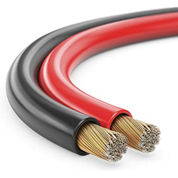 MANAX SC22150 Cavo per altoparlante (doppio filo) 2x1,50mm² (cavo per altoparlante / cavo audio), 10,0m, rosso / nero