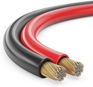 MANAX SC22075 Lautpsrecherkabel (Zwillingslitze) 2x0,75mm² (Boxenkabel/Audiokabel), 50,0m, rot/schwarz