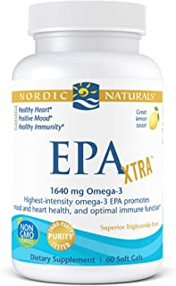 Nordic Naturals EPA Xtra, Lemon - 60 Soft Gels - 1640 mg Omega-3 - High-Intensity EPA Formula for Positive Mood, Heart Hea...