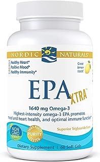 Nordic Naturals EPA Xtra, Lemon - 60 Soft Gels - 1640 mg Omega-3 - High-Intensity EPA Formula for Positive Mood, Heart Hea...