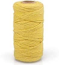 Geel katoenen touwtje 2mm x 100M decoratief koord voor kunst en ambachten, geschenkverpakking, decoratie, verpakking