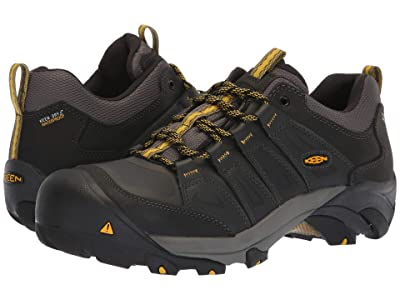 Keen Utility Boulder Steel Toe Waterproof (Raven/Yellow) Men