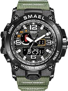 Montre analogique numérique Montre de Sport Militaire Mens Dual Dial Business Casual Multifonction électronique Poignet Mo...