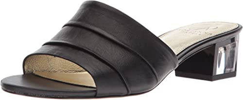 Adrianna Papell Wohommes Tiana Sandal, noir Leather, 9.5 M US