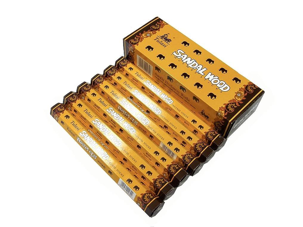 シーン故国ホップTULASI(トゥラシ) サンダルウッド香 スティック SANDAL WOOD 6箱セット