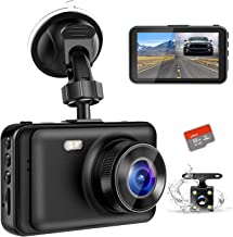 """$39 » Dash Camera for Cars, YOCHOS 1080P Front and Rear Dual Dash Cam, 3"""" LCD Screen 170° Wide Angle Dash Cam with Night Vision WDR G-Sensor Parking Monitor Loop Recording Motion Detection.(SD Card Include)"""