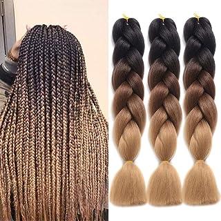 Ding Dian Ombre Braiding Hair Kanekalon Jumbo Braid Synthetic Braiding Hair 3Pcs/Lot..