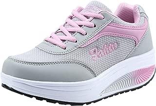 Women Mesh Heightening Shoes Soft Bottom Rocking Shoes Sneakers Star Women
