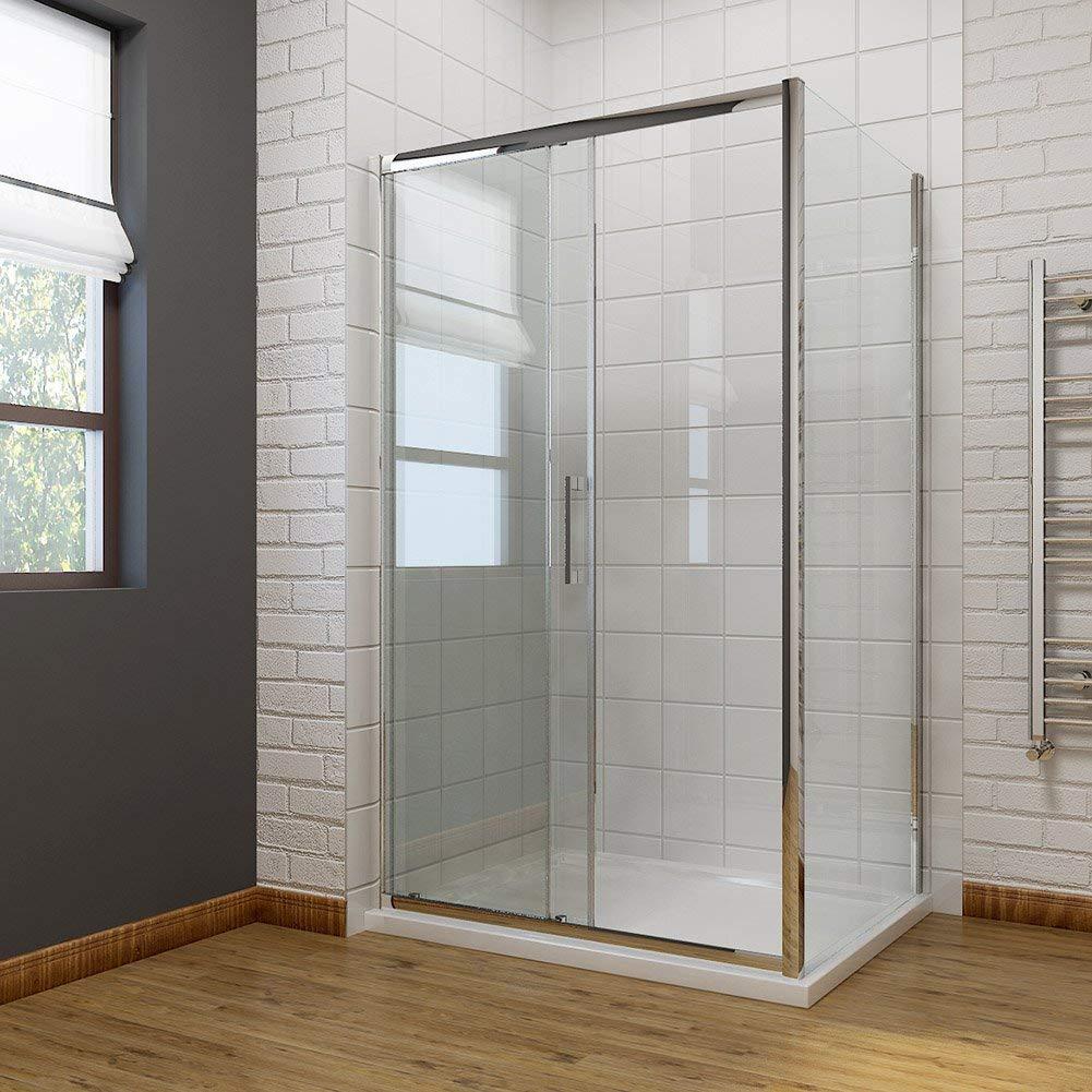 Gabinete deslizante de ducha cubículo baño moderno 8 mm fácil de ...