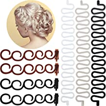 11 Pieces Hair Braiding Tool Hair Styling Accessories Kit French Hair Fishbone Ponytail Twist Styling DIY Tools for Girls Women DIY Hair Styles Favors
