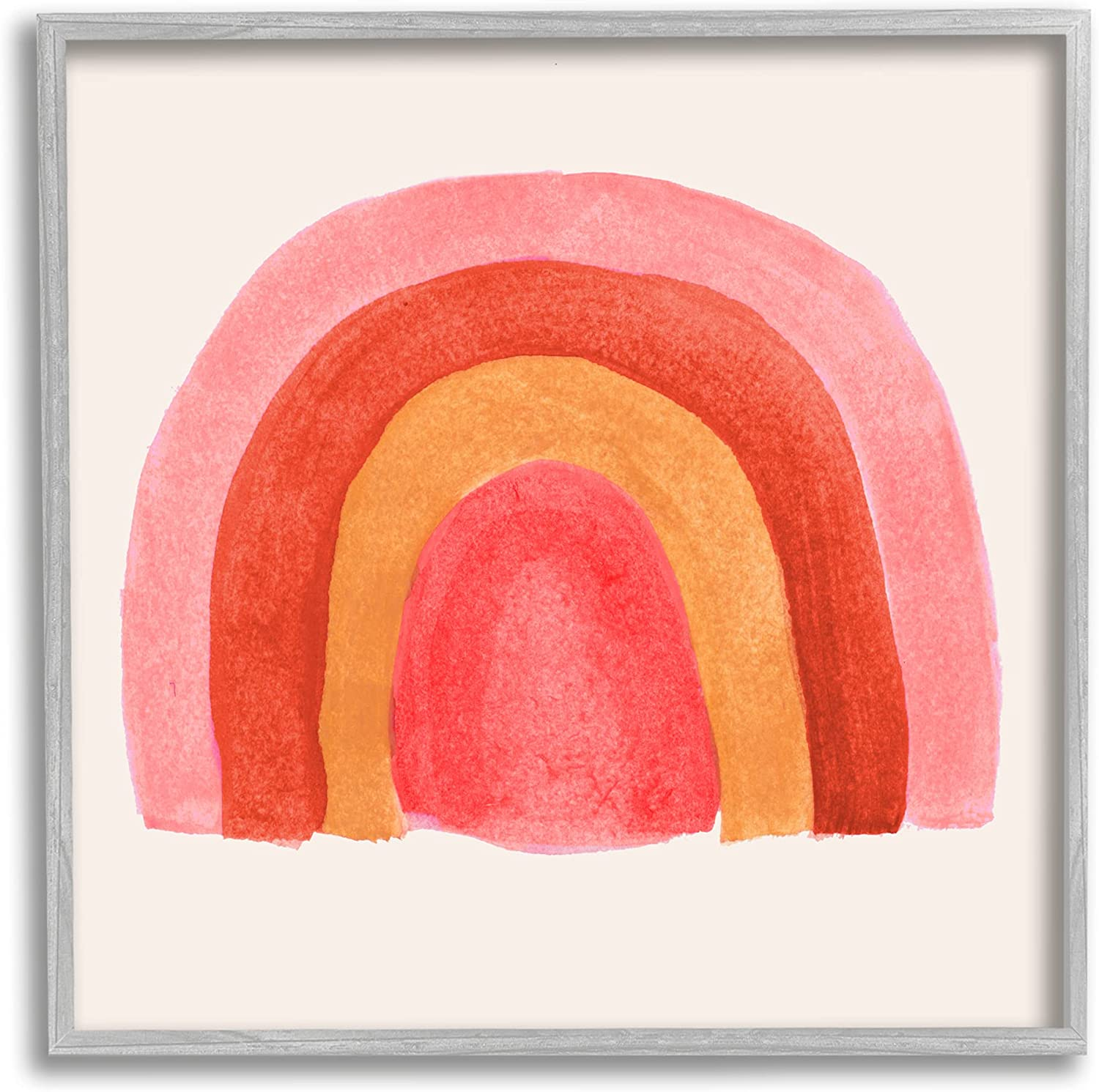Weekly update Stupell Industries Bold Red Credence Pink Arches De Layered Rainbow Four