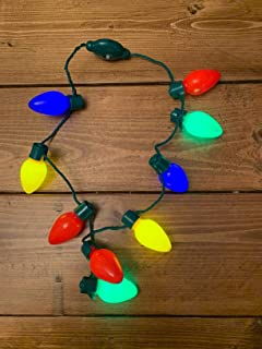 SUFEINI Christmas Light up Bulb Necklace (1 Pack)