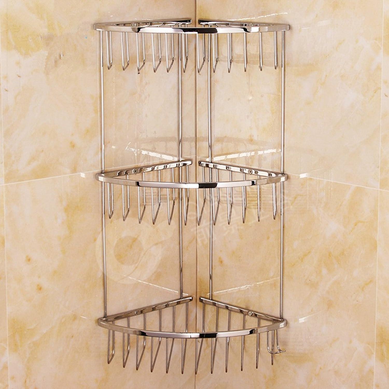 Stainless steel bathroom triangle shelf three-tier basket racks