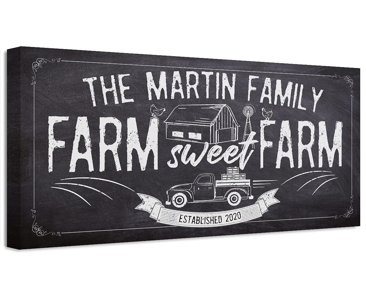 Personalized - Special 100% quality warranty! sale item Farm Sweet Large Wall Canvas Chalkboa Art