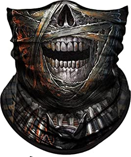 Obacle Skull Face Mask Half for Dust Wind UV Sun...