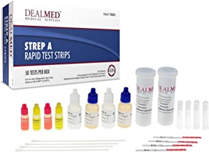 Dealmed Rapid Diagnostic Strep A Test Kits CLIA Waived (50 Tests per Box)