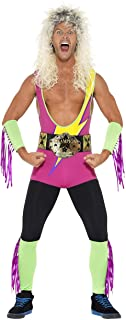 Smiffys Men's Retro Wrestler Costume, Bodysuit, Belt, Arm and Leg