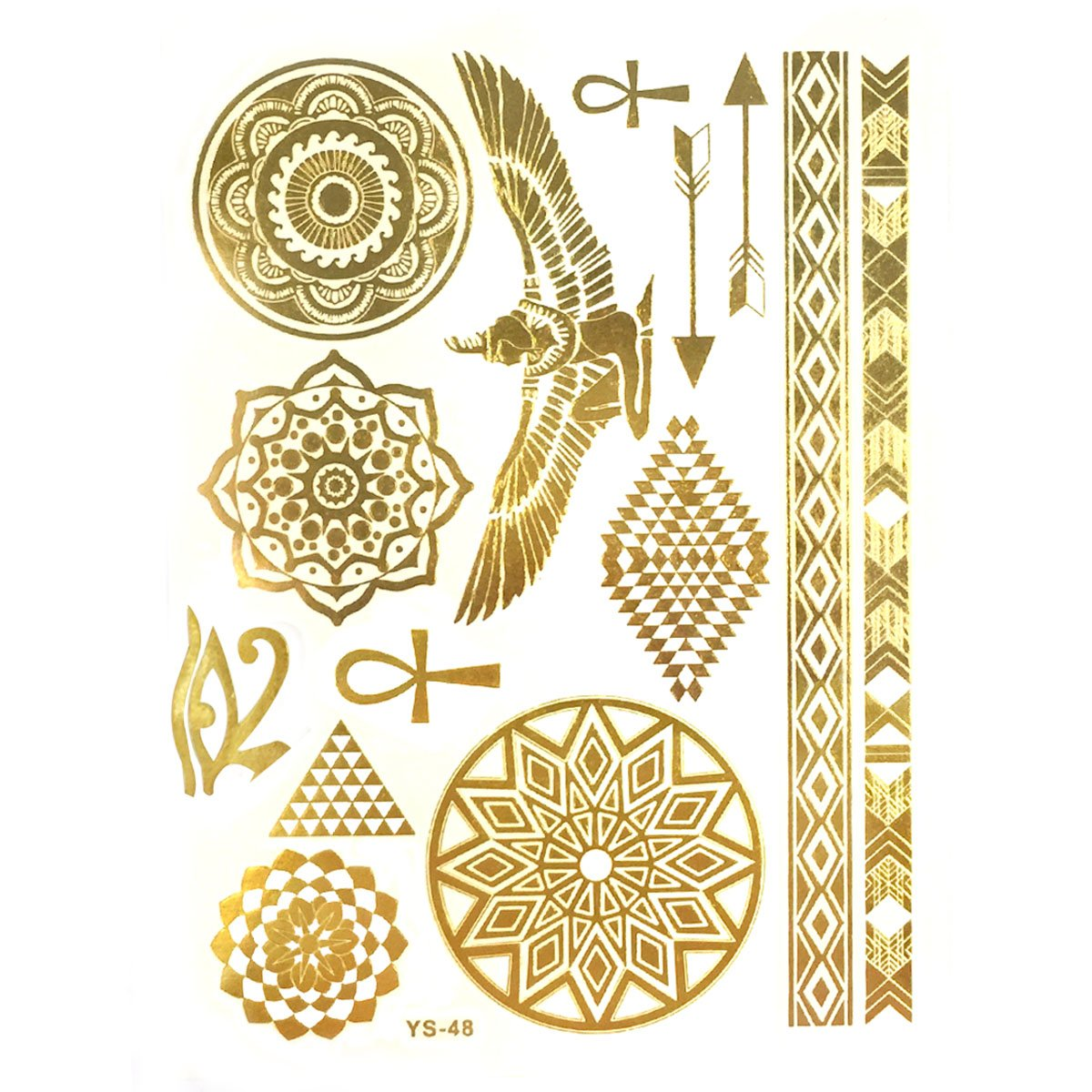 NEW before selling ☆ Wrapables Celebrity Inspired Temporary Gold in All items in the store Metallic Tattoos